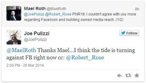 Tweet von Joe Pulizzi