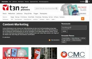 Content Marketing auf T3n